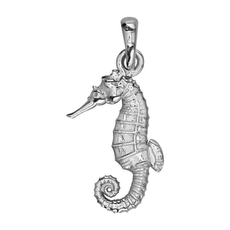 Small Seahorse Charm in 14k White Gold
