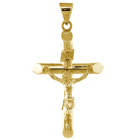 14K Gold Celtic Cross Charm Religious God Jewelry 18mm