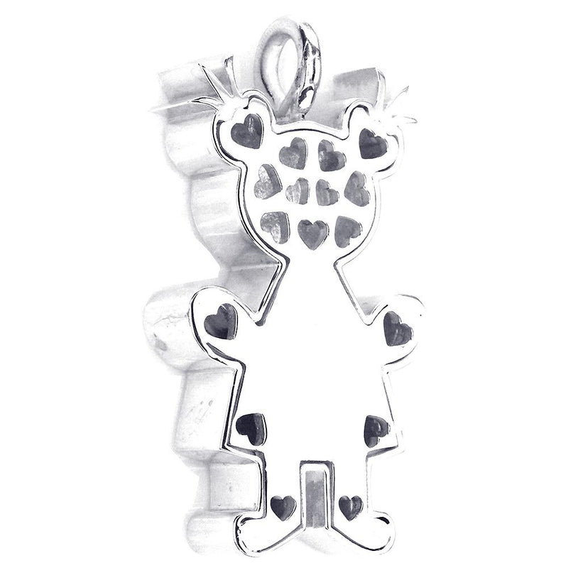 Couture Classic Kids Sziro Girl Charm for Mom, Grandma in Sterling Silver