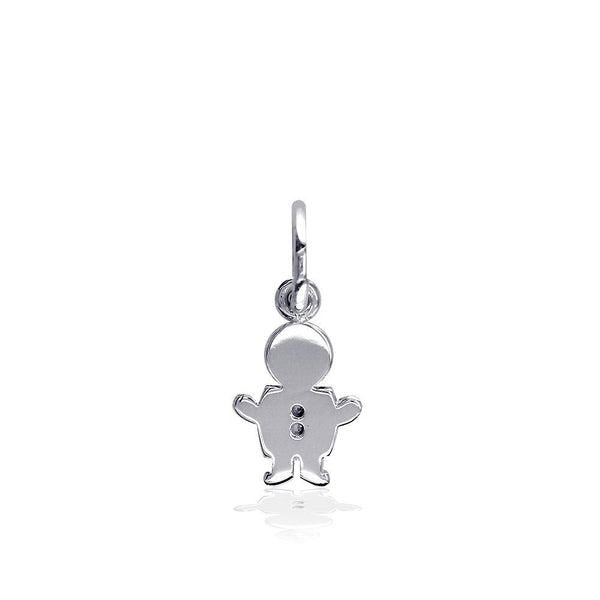Mini Sziro Boy Charm for Mom, Grandma in Sterling Silver
