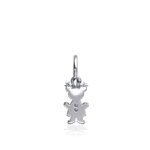 Classic Kids Mini Sziro Girl Charm for Mom, Grandma in Sterling Silver