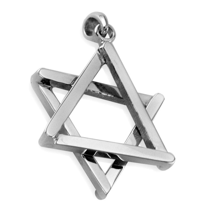 Medium Jewish Star of David Sticks Charm in Sterling Silver