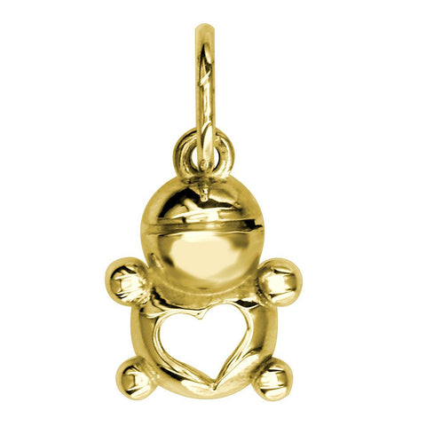 Mini Baby Boy Charm in 18K Yellow gold