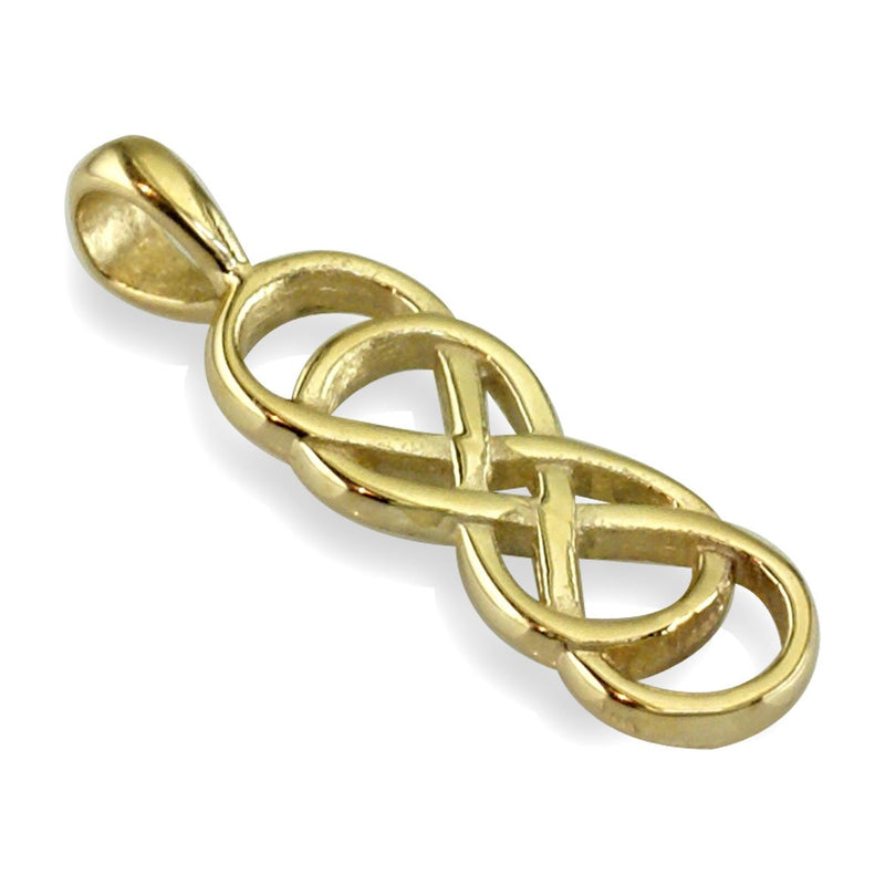 Small Double Infinity Symbol Charm, Best Friends,Sisters,Forever Charm in 18k Yellow Gold
