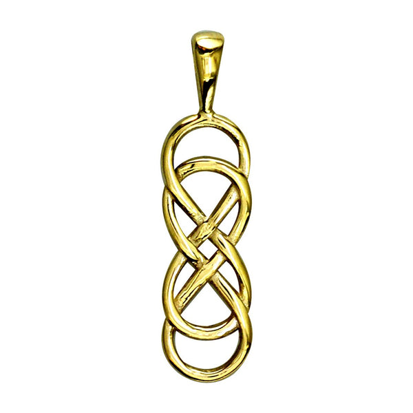 Medium Double Infinity Symbol Charm, Best Friends,Sisters,Forever Charm in 14k Yellow Gold
