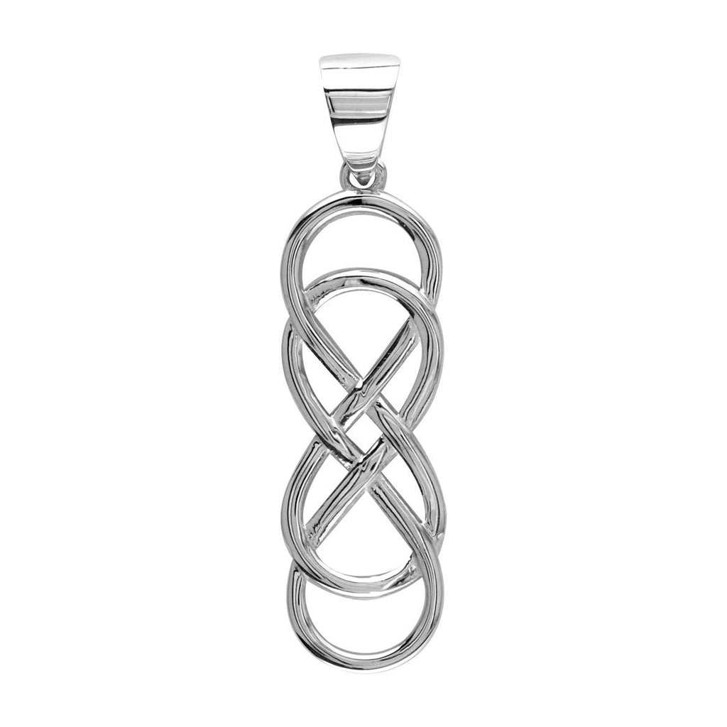 Extra large double infinity symbol charm in 14k white gold 15 1 biocorpaavc Image collections