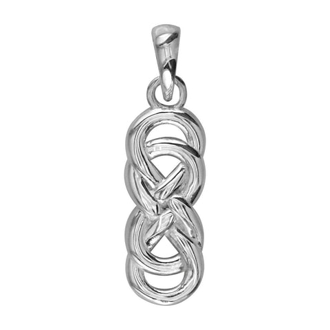 Medium Thick Double Infinity Symbol Charm, 16mm in 14k White Gold