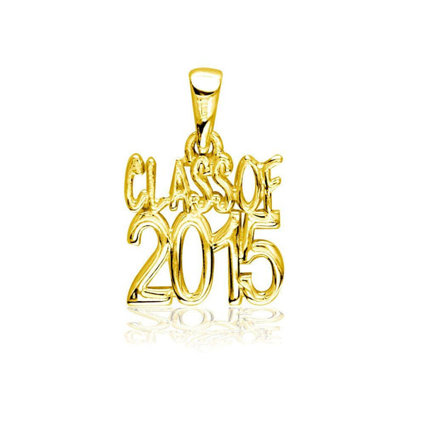 Small Class Of 2015 Graduation Charm in 18k Yellow Gold