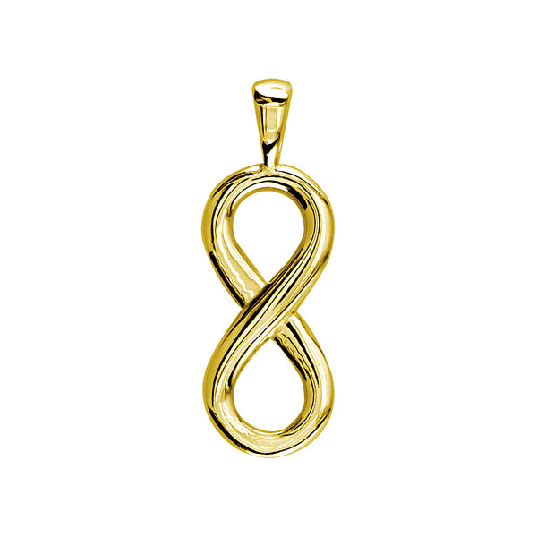 Small Flowing Infinity Charm, 20mm in 14k Yellow Gold