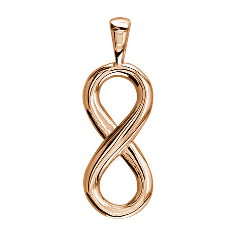 Medium Flowing Infinity Charm, 30mm in 14k Pink, Rose Gold