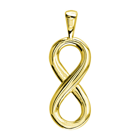 Medium Flowing Infinity Charm, 30mm in 14k Yellow Gold