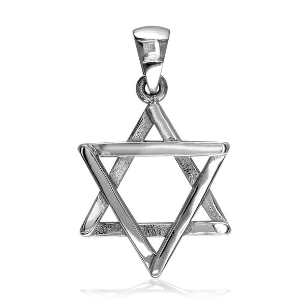Small Jewish Star of David Sticks Charm in Sterling Silver
