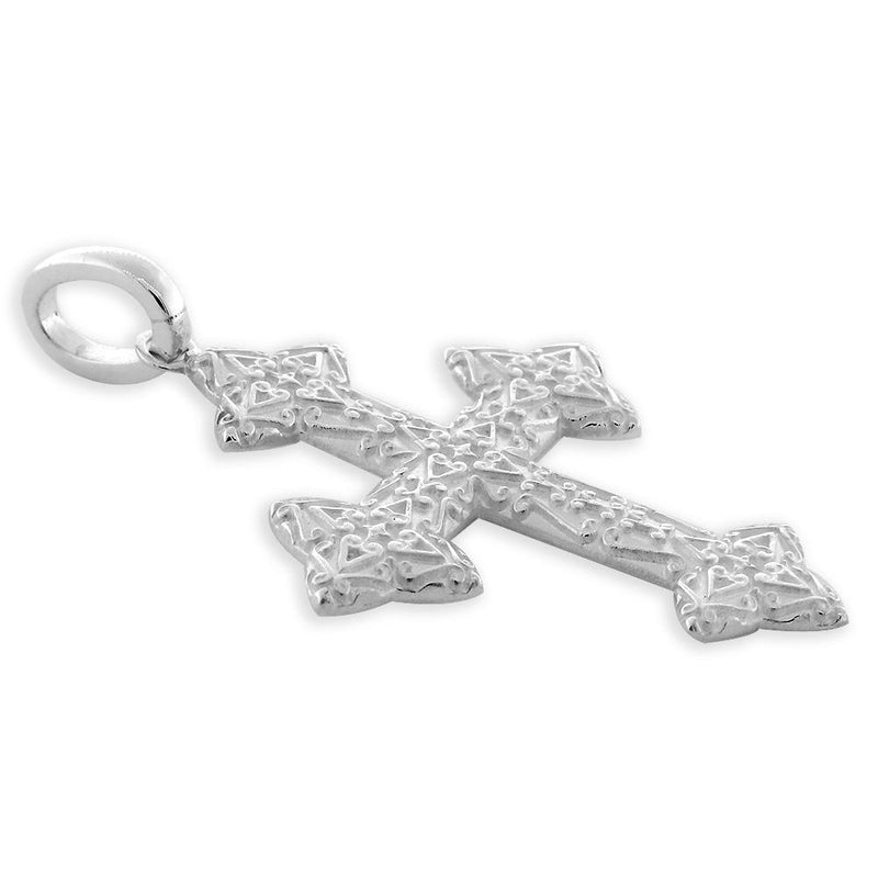 Extra Large Cross Charm, 40mm in Sterling Silver
