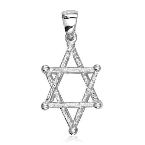 3D Star of David, Jewish Star Cage, Box Charm in Sterling Silver