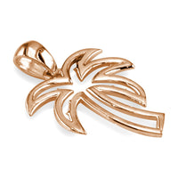 Medium Open Contemporary Palm Tree Charm in 14k Pink Gold