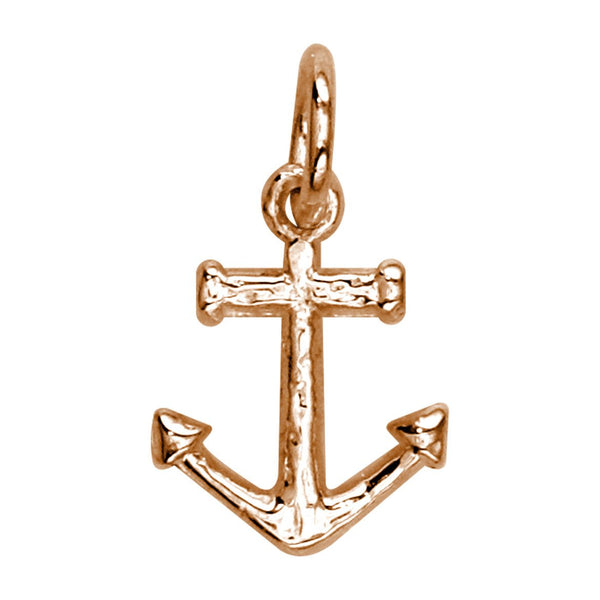 Mini Anchor Charm in 14k Pink Gold