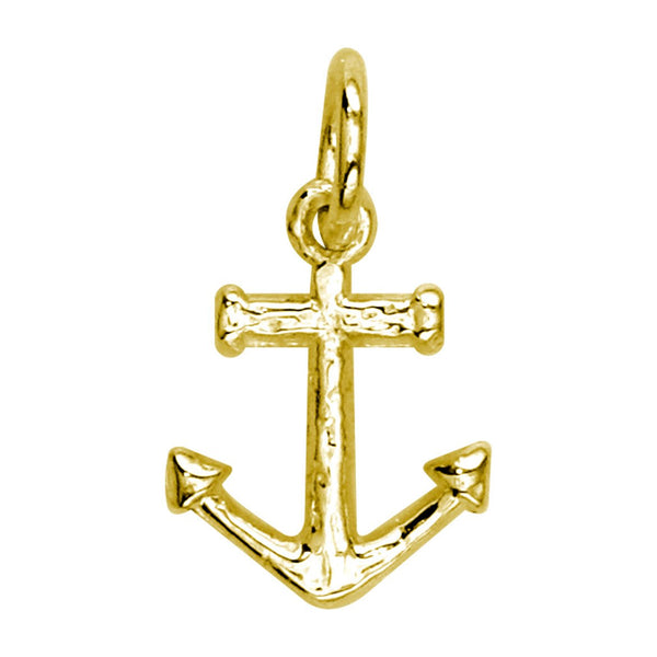 Mini Anchor Charm in 14k Yellow Gold