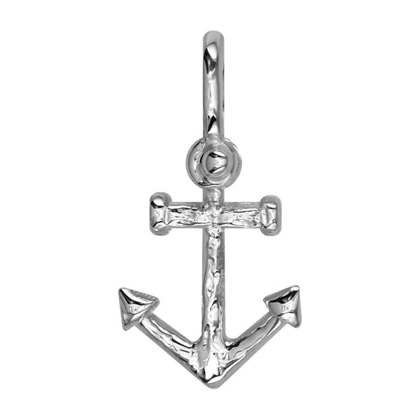 Small Anchor Charm in 14k White Gold