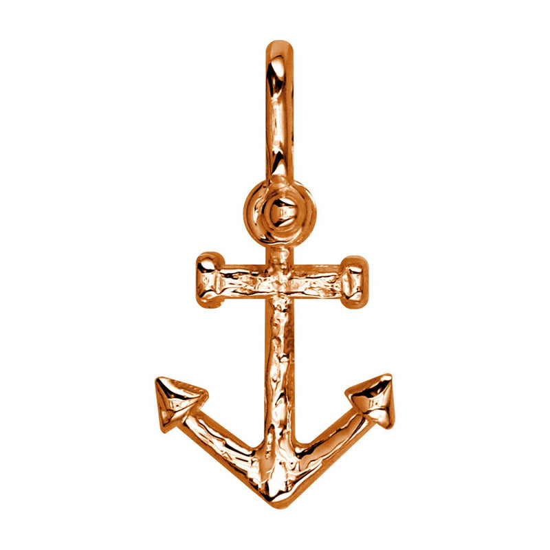Medium Anchor Charm in 14k Pink Gold