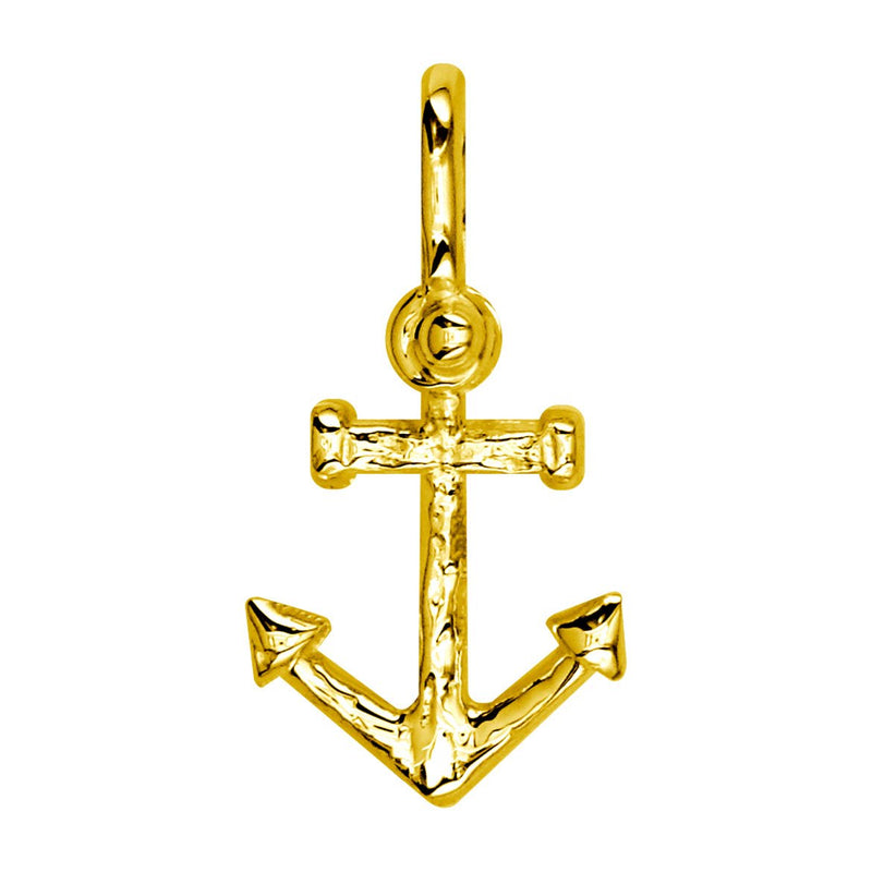 Medium Anchor Charm in 18k Yellow Gold