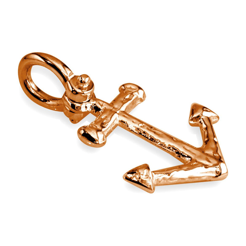 Large Anchor Charm in 14k Pink Gold