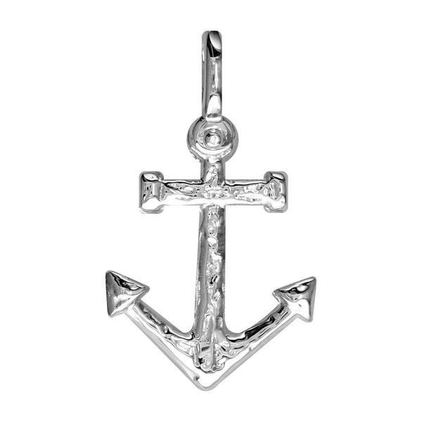 Large Anchor Charm in 14k White Gold