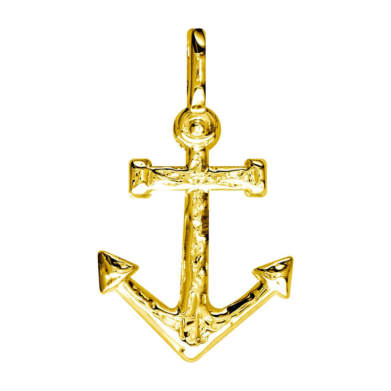 Large Anchor Charm in 14k Yellow Gold