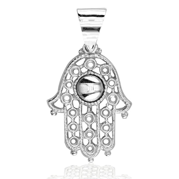 Vintage Style Hamsa, Hand of God Charm in Sterling Silver