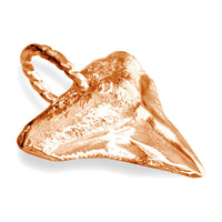 Medium Shark Tooth Charm in 14k Pink Gold