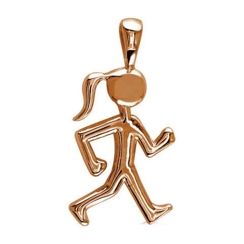 Lady Racewalker Charm in 18k Pink Gold