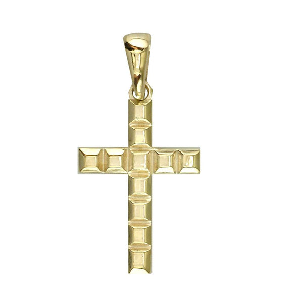 Squares Cross in 18k Yellow Gold