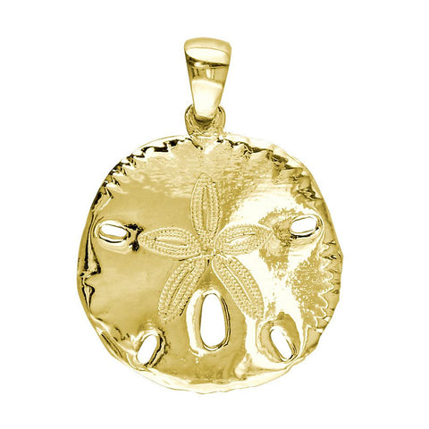 Medium Sand Dollar Charm in 18k Yellow Gold