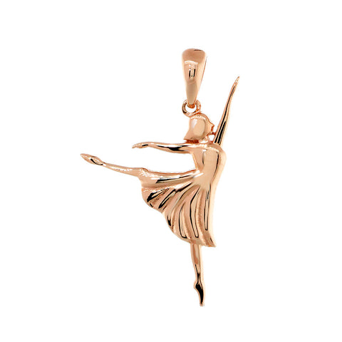 3D Dancer Charm in 14K Pink, Rose Gold