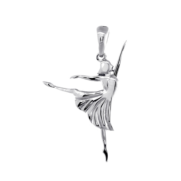 3D Dancer Charm in Sterling Silver