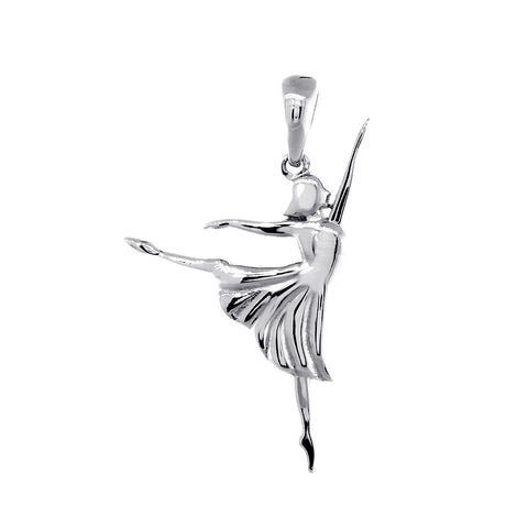3D Dancer Charm in 14K White Gold