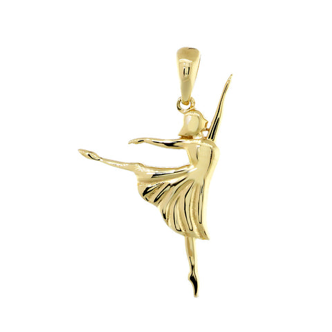 3D Dancer Charm in 14K Yellow Gold