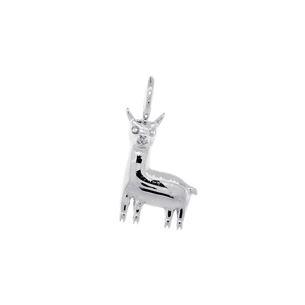 13mm Peru Llama Charm in 14k White Gold