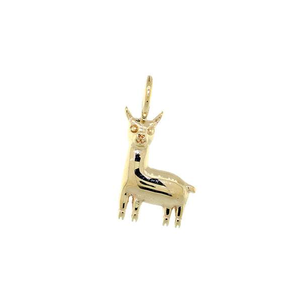 13mm Peru Llama Charm in 14k Yellow Gold