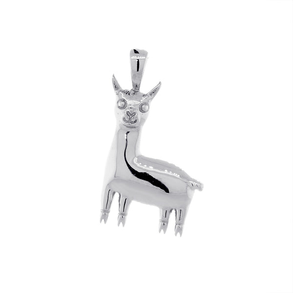 18mm Peru Llama Charm in 14k White Gold