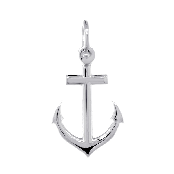 19mm Anchor Charm in 14k White Gold