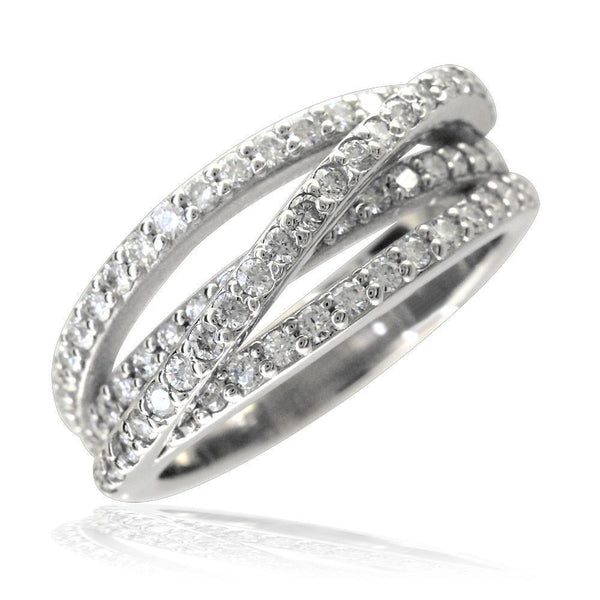Crisscross Diamond Bands LR-CU1017