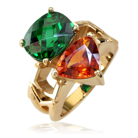 Custom Gemstone School Ring LR-CU1029