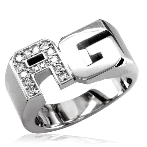 Diamond Initials Ring MR-CU1044