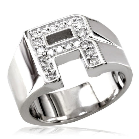 Diamond Iinitial Ring MR-CU1049
