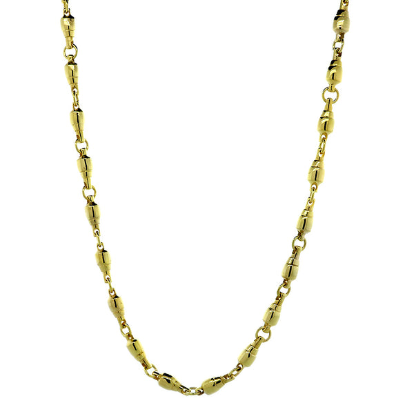 5.5mm Size Fishing Swivel Chain in 14k Yellow Gold, 22 Inches Long