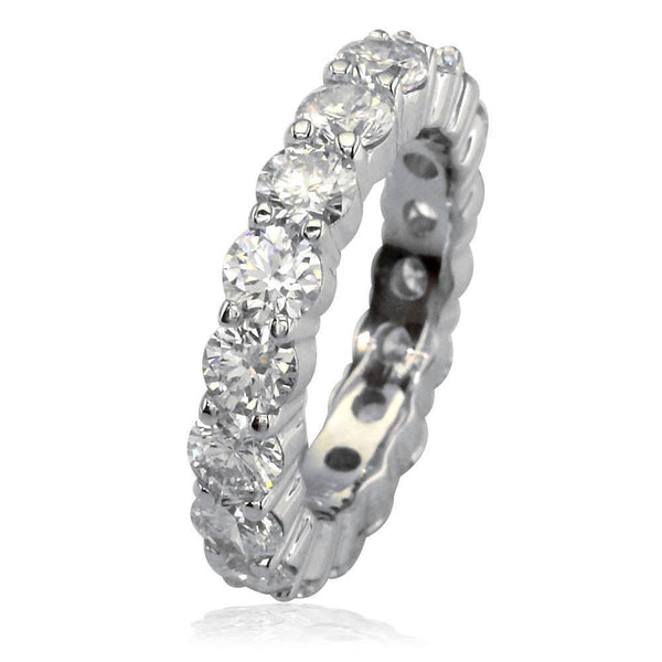 Round Diamonds Eternity Band, 4.25CT in 14k White Gold