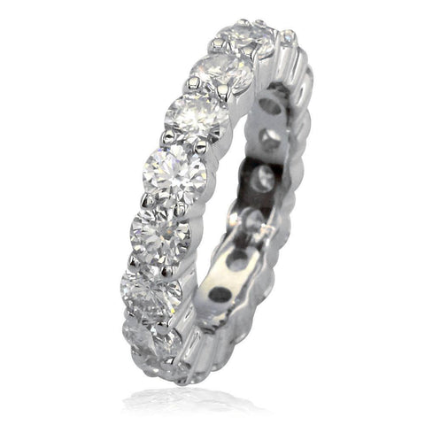 Round Diamonds Eternity Band, 4.25CT in 18k White Gold