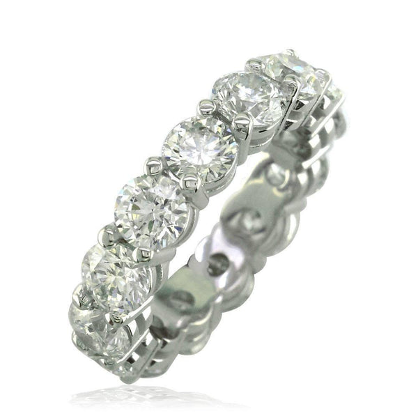 Round Diamonds Eternity Band, 5.50CT in 18k White Gold