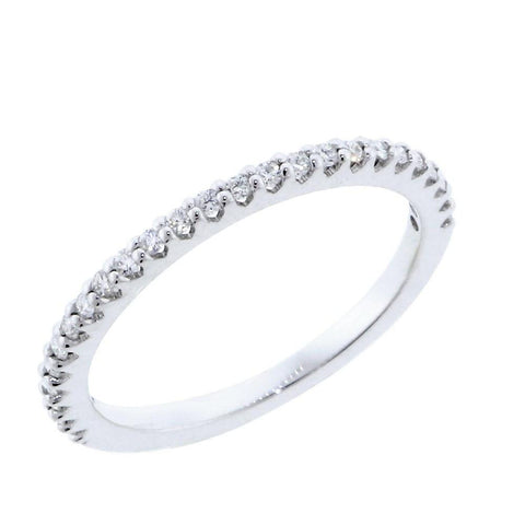 Thin Diamond Wedding Band, 0.25CT Total  in 14k White Gold