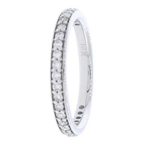 Diamond Wedding Band, 0.30CT Total  in 14k White Gold